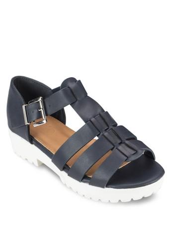 Gilmore zalora退貨羅馬厚底低跟涼鞋, 女鞋, 鞋