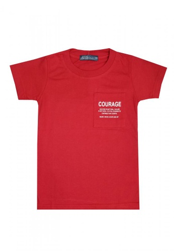 BOSSINI KIDS red Printed Shirt with Pocket 36495KA2205D65GS_1