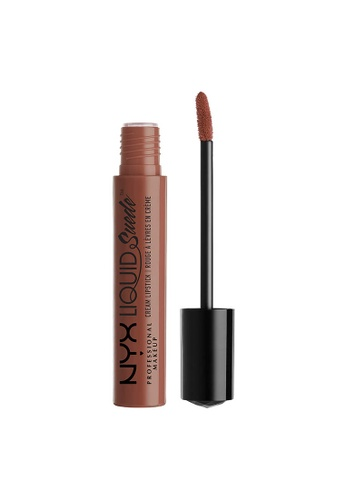 NYX Professional Makeup brown NYX Professional Makeup Liquid Suede Cream Lipstick - SANDSTORM E96BBBE353B2DAGS_1