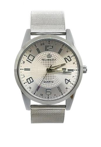 Chronomart silver Men's Dress Round Dial Stainless Steel Mesh Strap Wrist Watch ORK-0351 084F4AC18E2D6FGS_1
