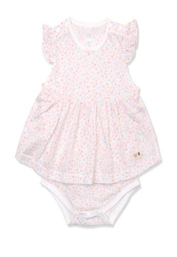 Organic mom pink Organic Cotton Amelia Floral Sleeveless Onesie 68EABKA52955A6GS_1