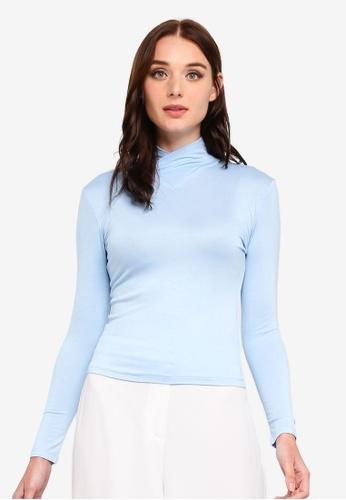 Zalia blue Basic High Neck Inner Top 0B87CAAE1B9483GS_1