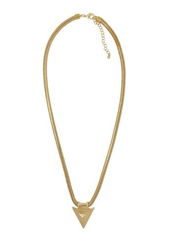 Jaysa Collection gold Golden Arrow Tip Pendant Necklace JA875AC35SYISG_1