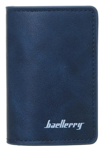 Baellerry navy Dompet Kartu Pria Model Panjang Casual Men Card Wallet Anti Theft Material Kulit ORIGINAL 1E8D7AC21491DDGS_1