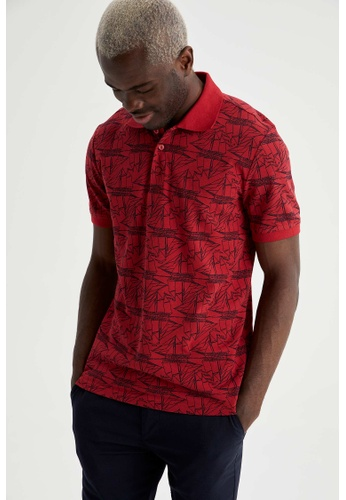DeFacto red Man Knitted Polo T-Shirt AF935AA699B703GS_1