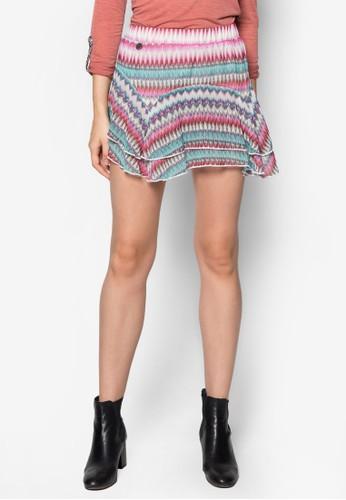 Leedesprit品牌介绍s 層疊荷葉邊印花短裙, 服飾, 迷你裙