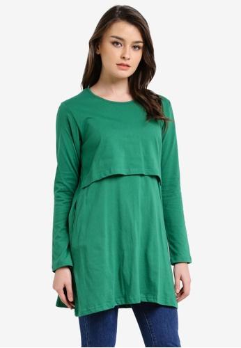 Aqeela Muslimah Wear green Nursing Top AQ371AA0RT8UMY_1