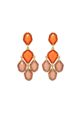 Jaysa Collection orange Avant Garde Resin Jewels Dangle Earrings JA875AC0F7HPSG_1