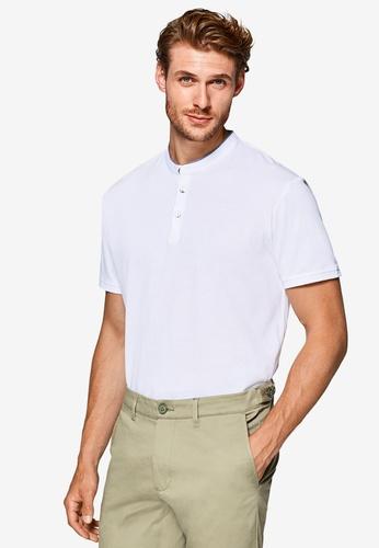 ESPRIT 白色 短袖POLO衫 B8788AAD60D2CBGS_1