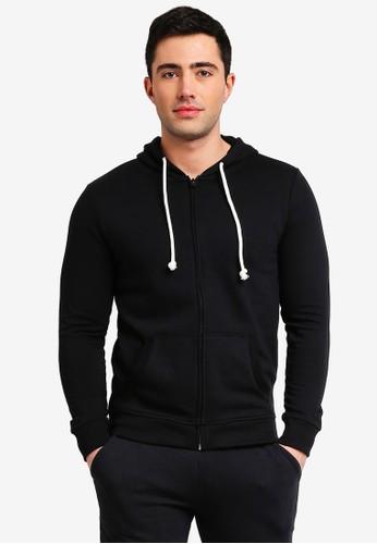 OVS black Full Zip Hoodie 9BCF7AAE85652CGS_1