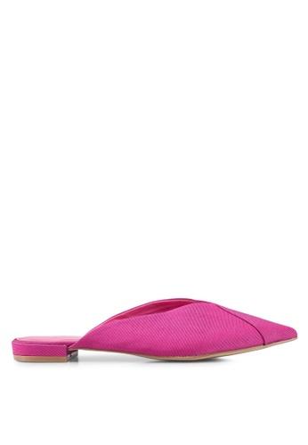 TOPSHOP 粉紅色 尖頭穆勒鞋 F0481SH4127B82GS_1