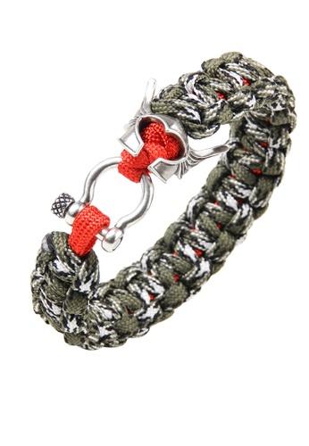 HAPPY FRIDAYS Soldier's helmet Paracord Bracelet QNW2482 4E003ACEBE183CGS_1