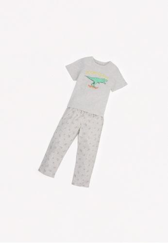 Gingersnaps grey Boys Loose Pajama Set 00CBDKAD15FB26GS_1