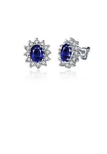 Glamorousky white Sparkling Fashion Elegant Noble Romantic Fantasy Blue Flower Cubic Zircon Earrings 0E91AACC8E1D83GS_1