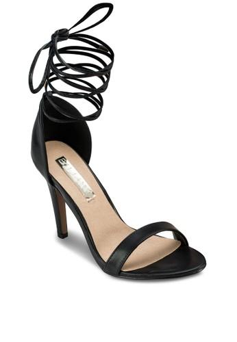 Ontaro 繞踝繫帶高跟涼鞋, 女鞋, 知性女esprit hk store強人