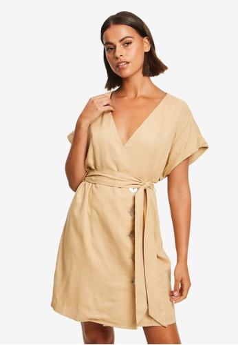 The Fated brown Jemma Mini Dress 3872CAAF57DC3DGS_1