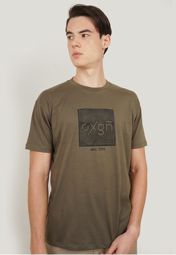 OXYGEN green OXGN Easy Fit Tee With Special Print 02FDAAA424E308GS_1
