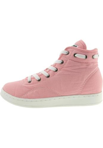 Maxstar 粉紅色 新款韩国鞋020-Taller時尚帆布布混合女粉紅色 US Women Size MA345SH77HBUTW_1