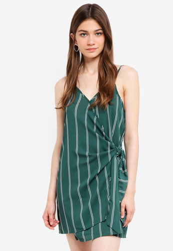 Cotton On green Woven Margot Wrap Slip Dress 111CEAACFB0339GS_1