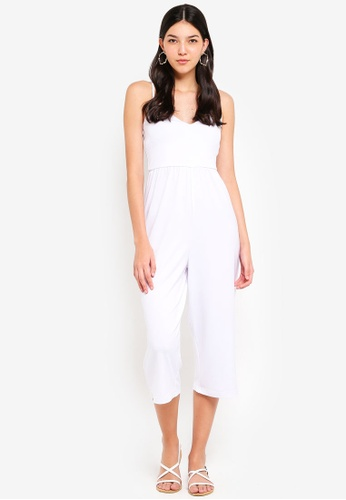 Supre white V Neck Jumpsuit 04052AA3B2F353GS_1