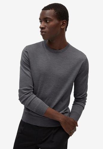 MANGO Man grey 100% Merino Wool Washable Sweater 846EFAA0F707C8GS_1