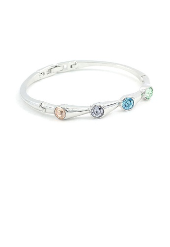 Glamorousky multi Trendy Bangle with Multi-color Austrian Element Crystals 0817AAC79A1504GS_1