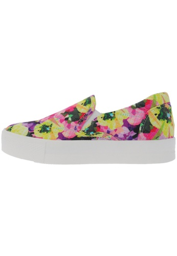 Maxstar C7 30 Flower Denim White Platform Slip on Sneakers US Women Size MA168SH19DKEHK_1