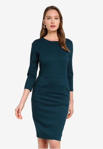 FORCAST green Lydia Ponte Dress 25431AA9590C45GS_1