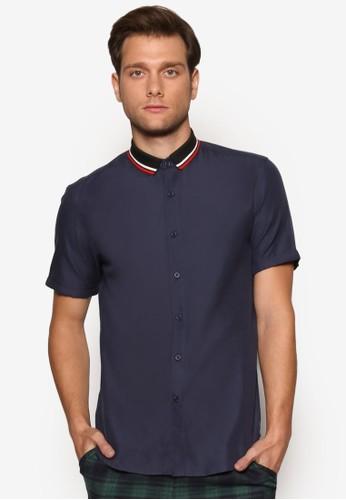 羅紋領短袖襯衫,esprit分店地址 服飾, 襯衫