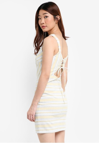 Something Borrowed yellow Cut-Out Bodycon Dress B87BBAA8D40394GS_1