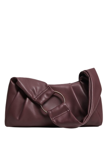 Violeta by MANGO red Metallic Hoop Baguette Bag 5E9D8ACA6B17A4GS_1