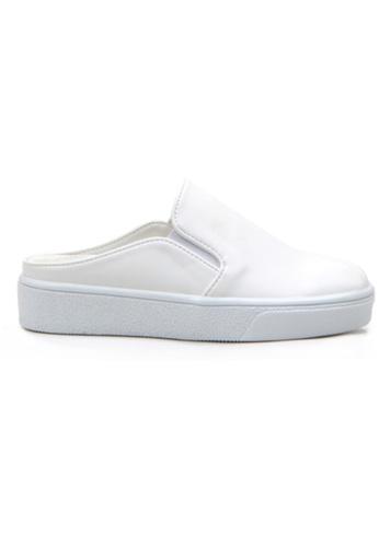 Crystal Korea Fashion white Korean New Versatile Flat Casual Slippers E40BFSH36077F3GS_1