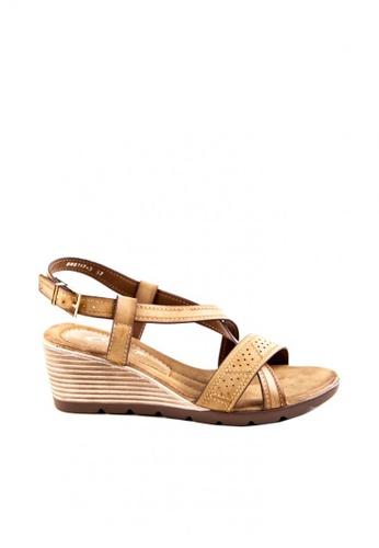 Otto brown Criss Cross Sandals OT407SH0JTKDPH_1