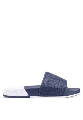 Slydes navy Split Sandals 61247SHDA5D5C2GS_1
