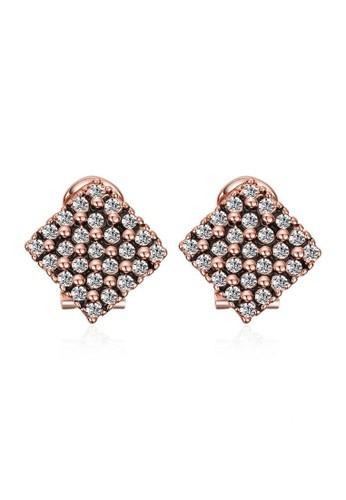 Tiaria pink Tiaria Gold Plated Earing Hooks Fashion AKE085--K10 F55B1ACEC26110GS_1