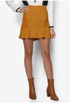 Peplum Flare Skirt