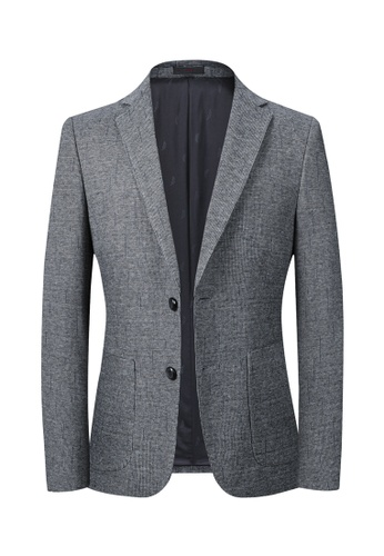 HAPPY FRIDAYS Slim Casual Textured Suit Jacket A556. D20DEAA64D4633GS_1