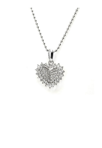Glamorousky silver Glistering Joyful Heart Pendant with Silver Austrian Element Crystals and Necklace 045ECAC0FAA7E2GS_1