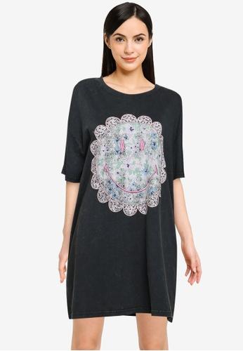 Cotton On Body black Organic Cotton 90S T-Shirt Nightie 59288AA8AF19D6GS_1