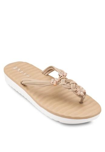 花飾編織夾腳涼鞋, 女鞋,esprit高雄門市 涼鞋