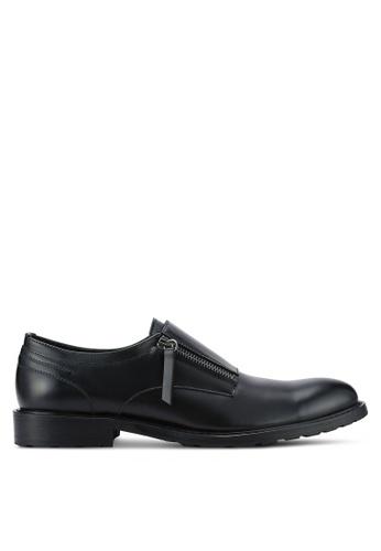 ZALORA black Contemporary Zipper Monk Shoes AB9C6AACECA336GS_1