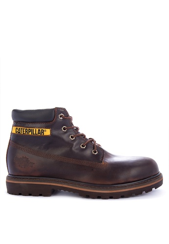Caterpillar brown Heavy Duty Lace-up Boots 24274SH626E096GS_1