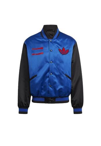 ADIDAS blue adidas Originals Run-DMC Collegiate Jacket 575C8AA9C10B93GS_1