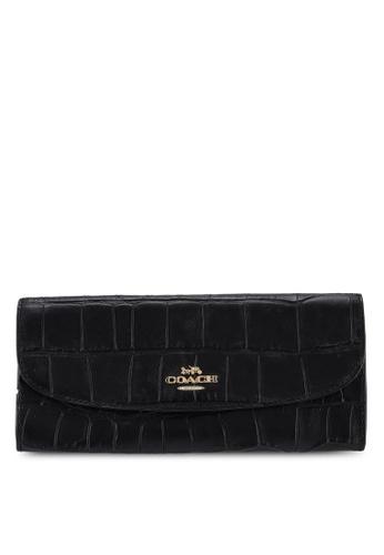Coach black Soft Long Wallet 1B3C2AC25C0882GS_1