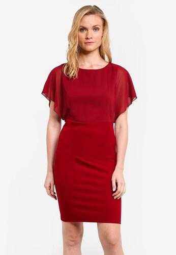 ZALORA red Essential Chiffon Bodice Dress F396AZZE6D4C1FGS_1