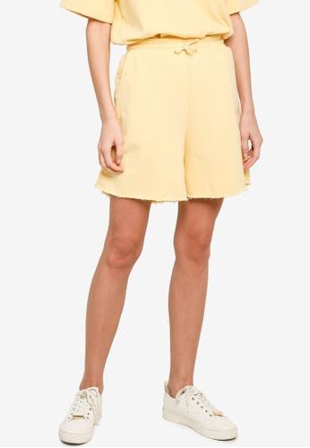 H&M yellow Sweatshirt Shorts DB20EAA0AA10E5GS_1