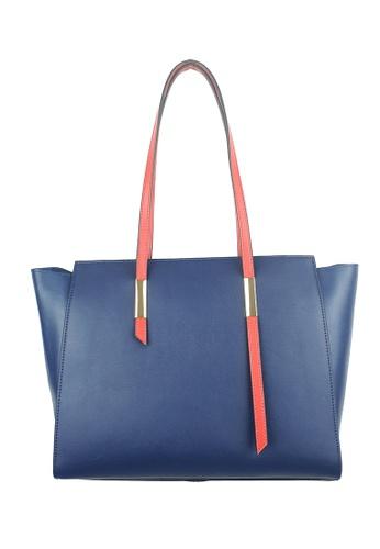 BELLE LIZ blue Large Shoulder Ladies Leather Handbag Blue 2B05EAC1D2A402GS_1