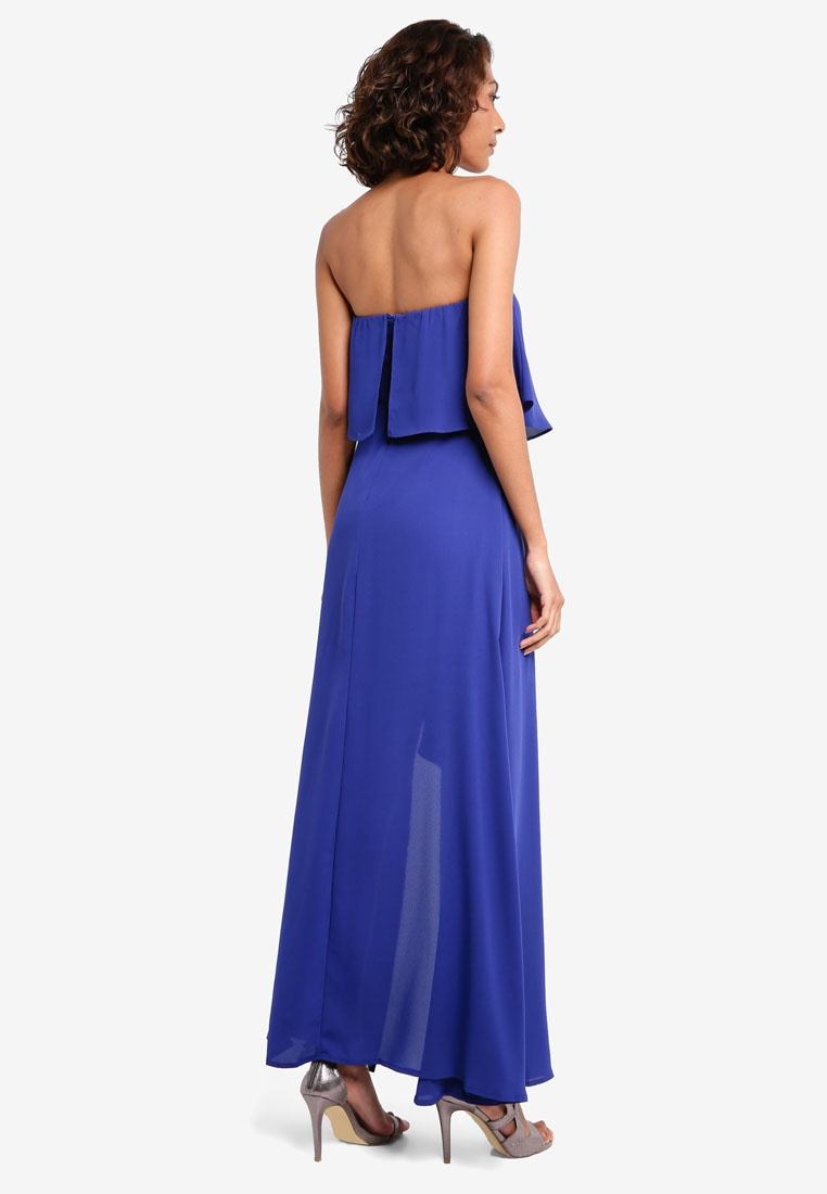Proper amp; Blue Opening Tiered With Bustier Dress Preen Maxi Side 8wp8UxFq