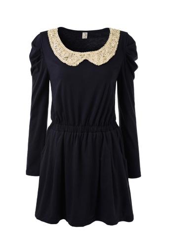 hk-ehunter blue Elegant Long Sleeves Mini Dress 47868AA0D2C1C0GS_1