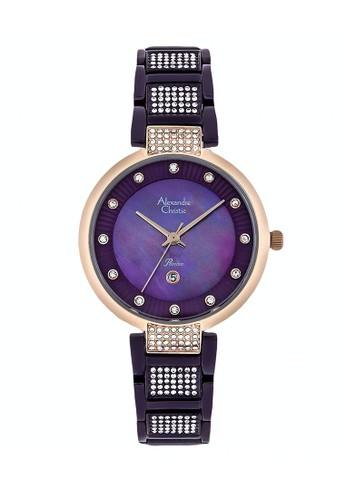 Alexandre Christie purple Alexandre Christie Jam Tangan Wanita - Purple Rosegold - Stainless Steel - 2733 LDBRUPU 6EDA8AC3B06C75GS_1